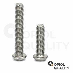 Linsenkopfschrauben mit Innensechsrund ISO 7380 Edelstahl A2