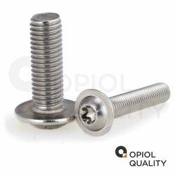 Linsenkopfschrauben mit Innensechrund u. Flansch ISO 7380 Edelstahl A2