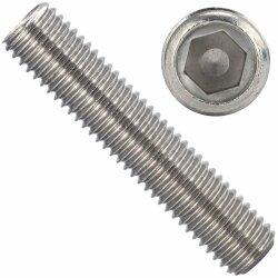 Gewindestifte mit Innensechskant und Ringschneide DIN 916 Edelstahl A2