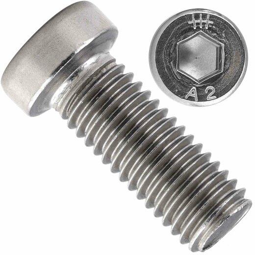 Zylinderschrauben Innensechskant niedr. Kopf DIN 7984 Edelstahl A2