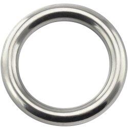 Ring 4x25 geschweißt, poliert, Edelstahl A4