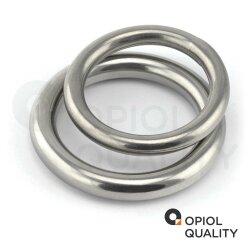 Ring 4x40 geschweißt, poliert, Edelstahl A4