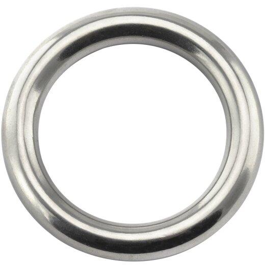 Ring 6x40 geschweißt, poliert, Edelstahl A4