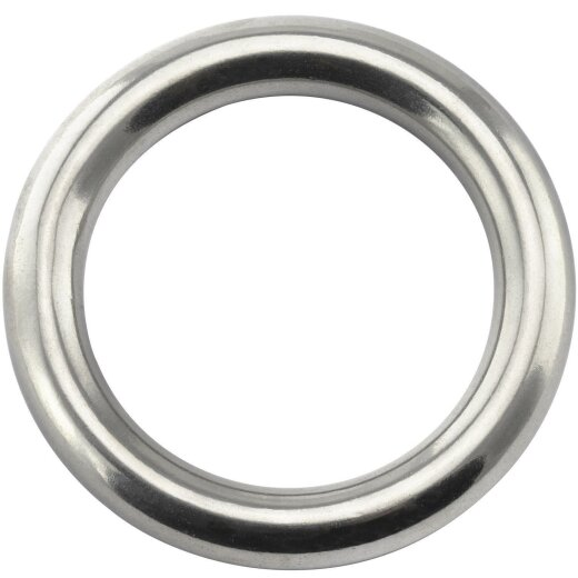 Ring 10x50 geschweißt, poliert, Edelstahl A4