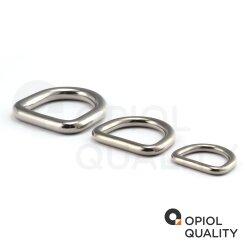 D-Ring 3x20 geschweißt, poliert, Edelstahl A4