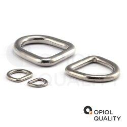 D-Ring 4x20 geschweißt, poliert, Edelstahl A4