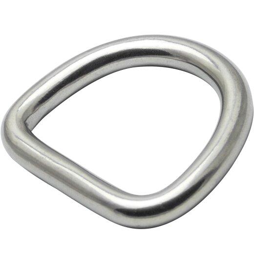 D-Ring 4x25 geschweißt, poliert, Edelstahl A4