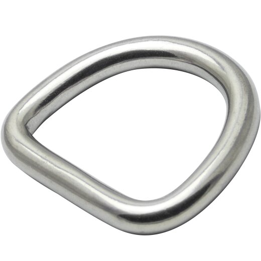 D-Ring 4x30 geschweißt, poliert, Edelstahl A4