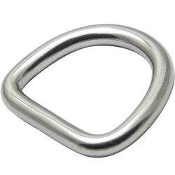 D-Ring 6x40 geschweißt, poliert, Edelstahl A4