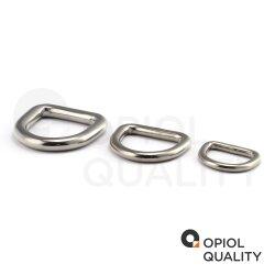 D-Ring 6x50 geschweißt, poliert, Edelstahl A4