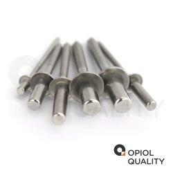 Dichtblindnieten mit Flachkopf gerillter Nietdorn ISO 16585 A2