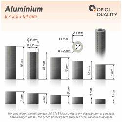 Distanzhülse 6x3,2x8 aus Aluminium
