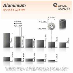 Distanzhülse 10x5,3x6 aus Aluminium