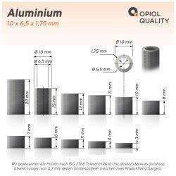 Distanzhülse 10x6,5x7 aus Aluminium