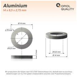 Distanzhülse 14x8,5x2 aus Aluminium