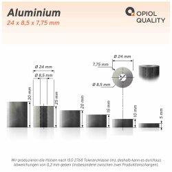 Distanzhülse 24x8,5x5 aus Aluminium
