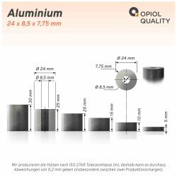 Distanzhülse 24x8,5x10 aus Aluminium