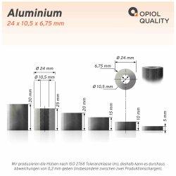 Distanzhülse 24x10,5x10 aus Aluminium