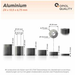 Distanzhülse 24x10,5x15 aus Aluminium