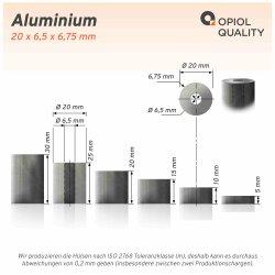 Distanzhülse 20x6,5x10 aus Aluminium
