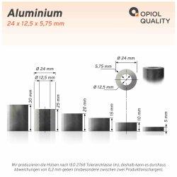 Distanzhülse 24x12,5x5 aus Aluminium